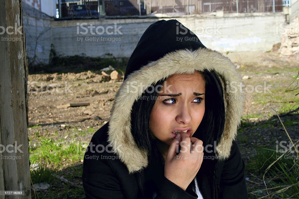 Sadness in the Hood royalty-free stock photo