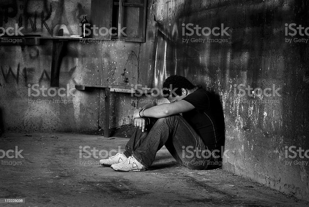 sadness in the solitude 1 royalty-free stock photo