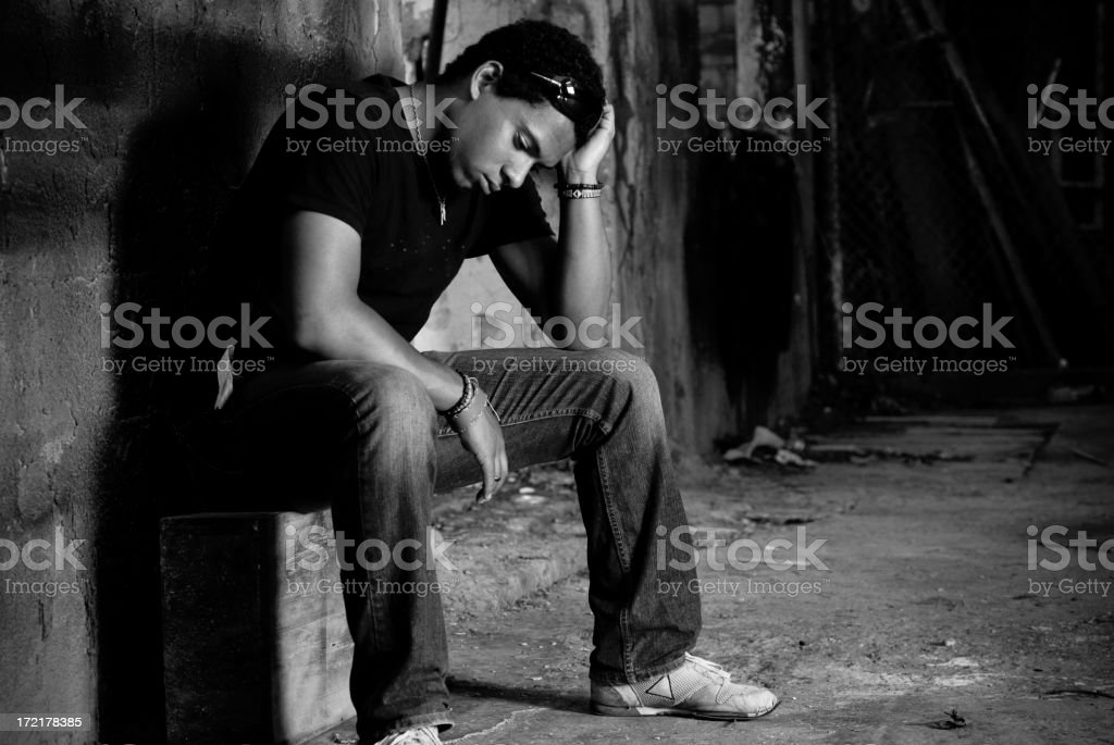 sadness in the solitude 2 royalty-free stock photo