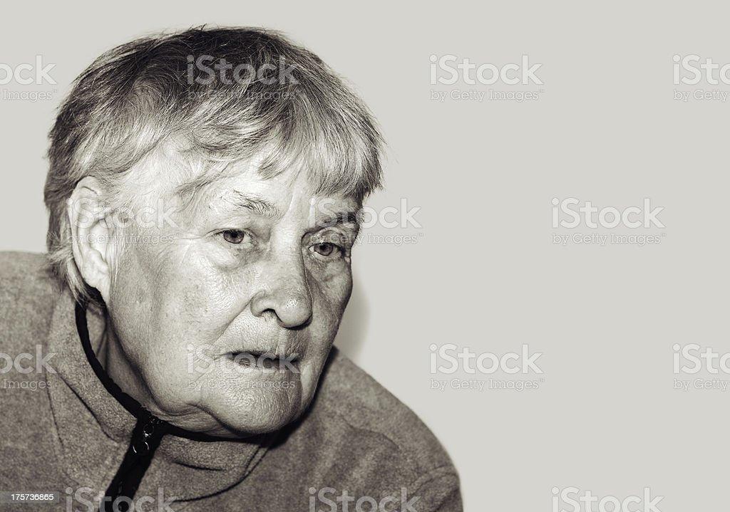 Sadness Senior woman royalty-free stock photo