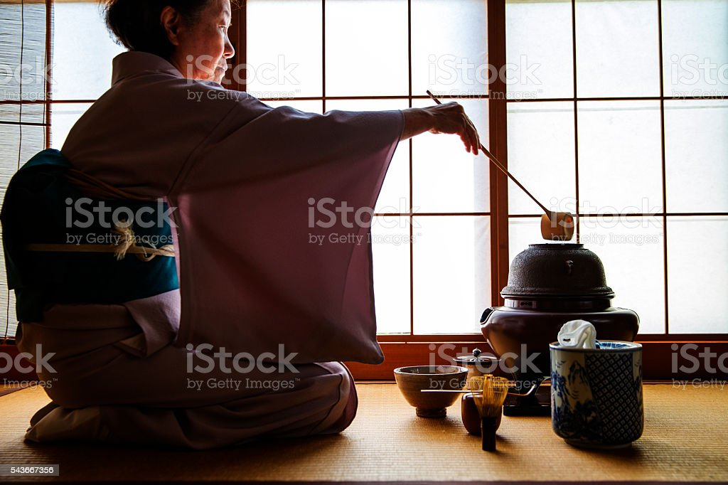 Sado (Traditional Japanese Tea Ceremony) stock photo