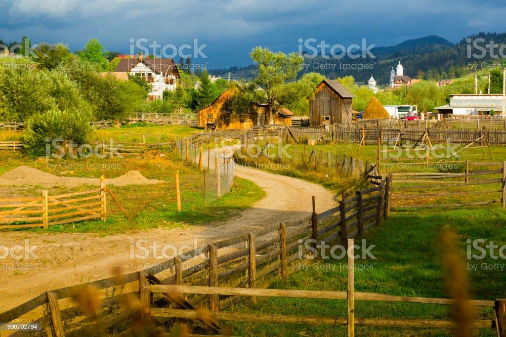 Sadova, traditional romanian village stock photo