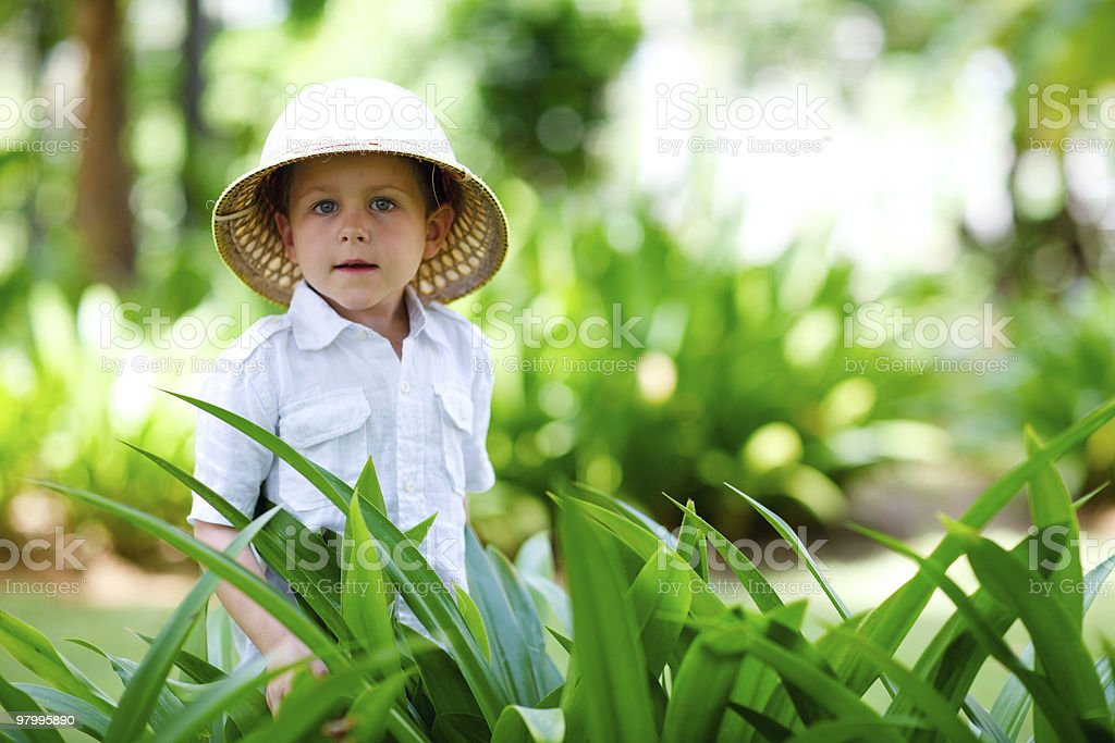 Safari boy royalty free stockfoto