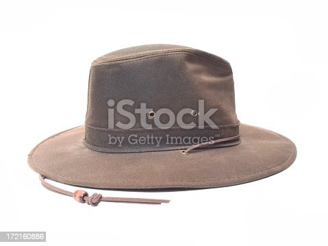 Brown leather hat.Please leave feedback or contact me at