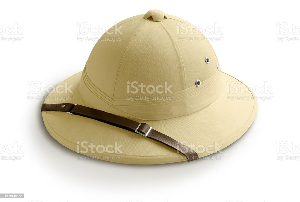 Safari Helmet stock photo