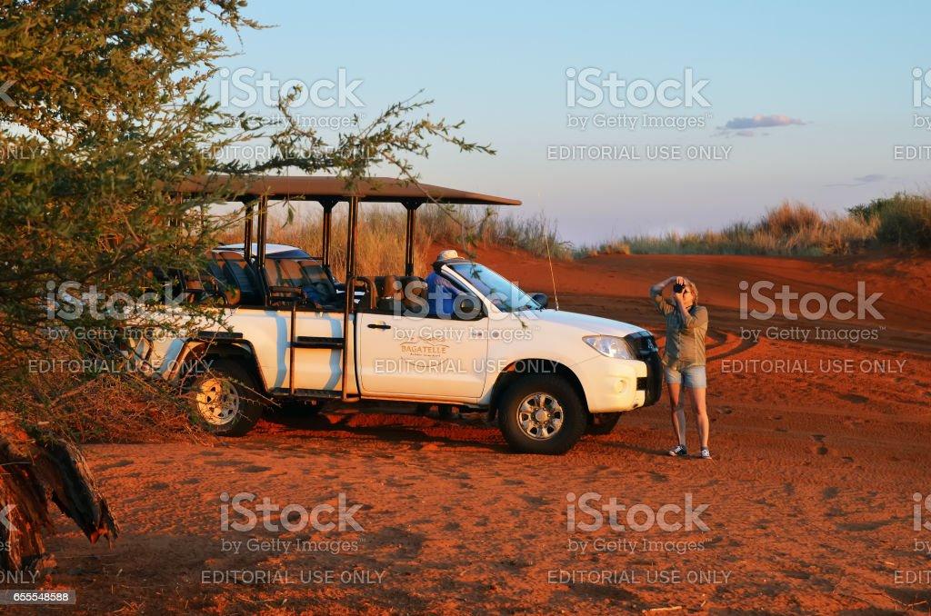 Safari in der Sandwüste in Namibia, Afrika – Foto