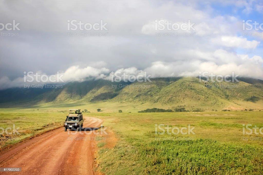 Safari in Ngorongoro Crater National park. Tanzania. stock photo