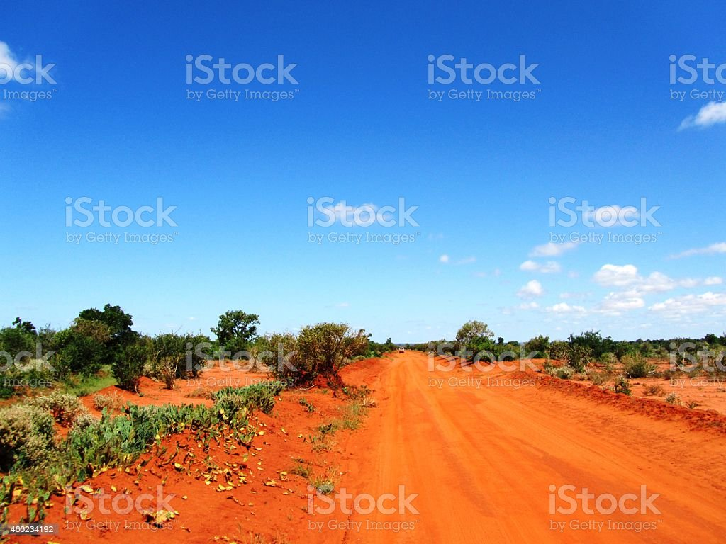 Safari in Tsavo West - Kenia stock photo