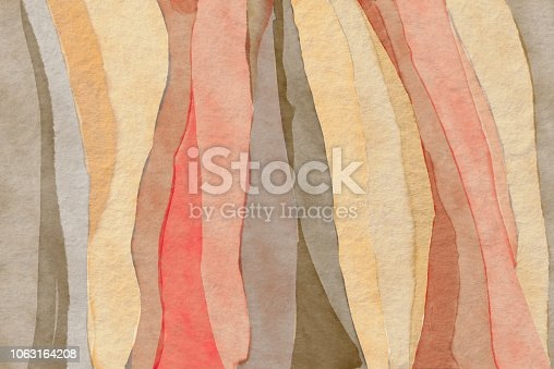 Abstract  zebra earth tone striped  pattern, watercolor background. Safari inspiration