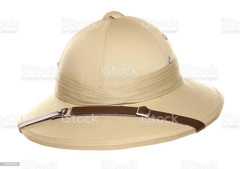 Safari jungle hat stock photo