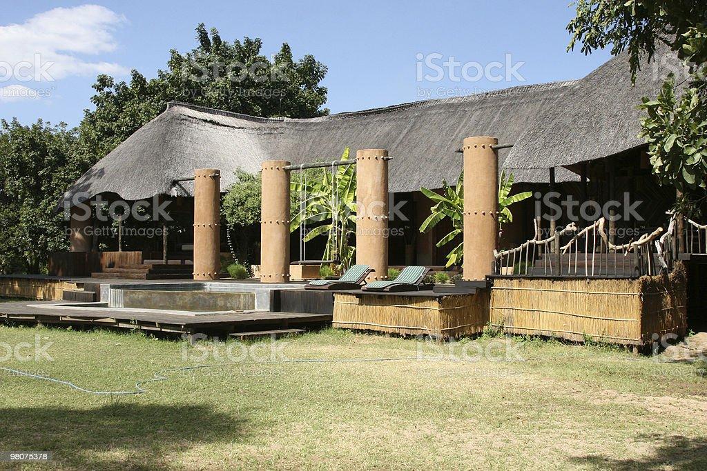 Safari Lodge royalty-free stock photo