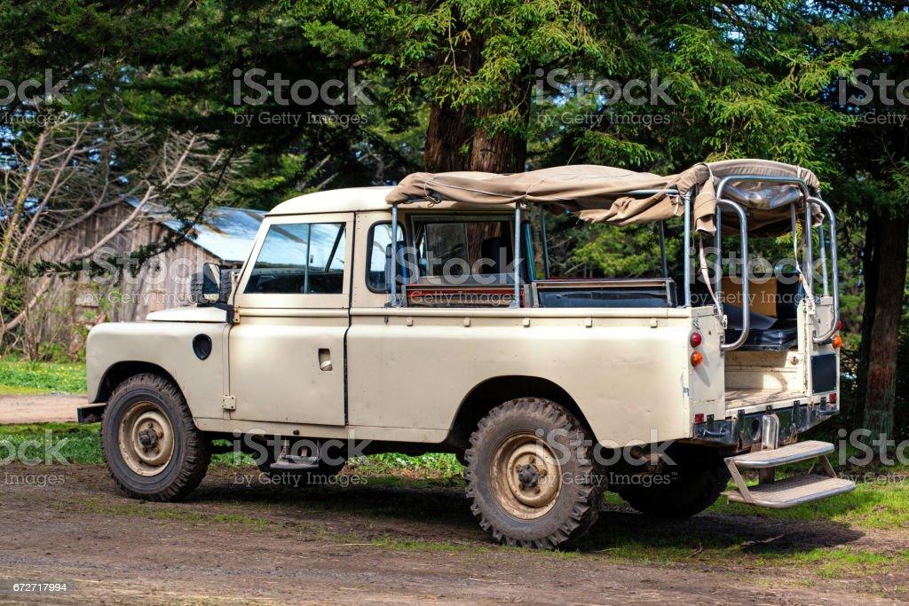 Safari Off Road Vehicle stock photo