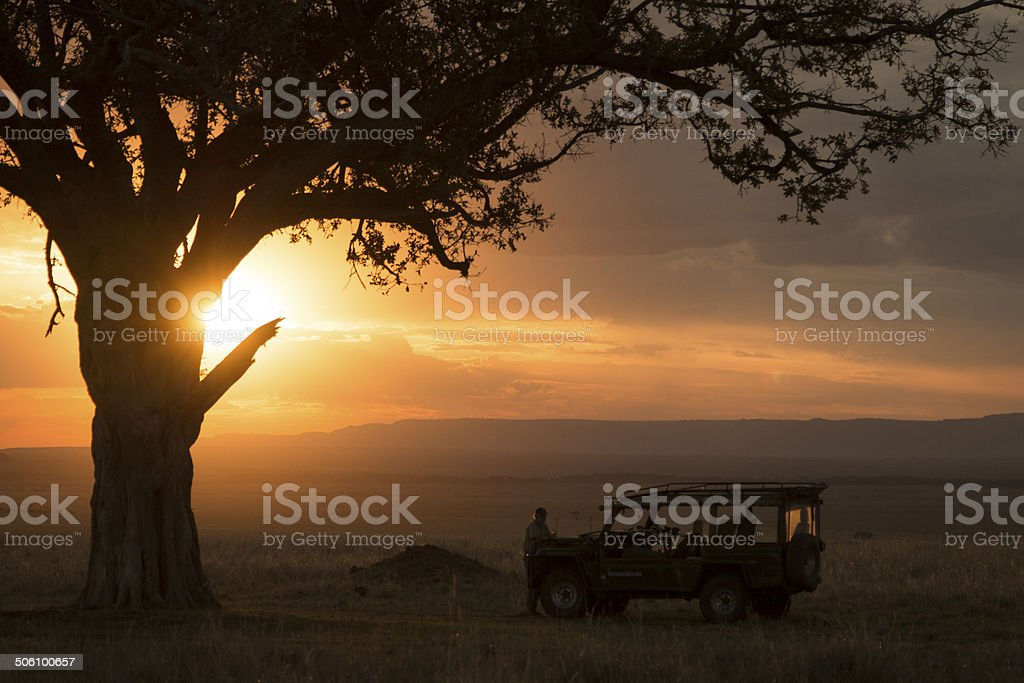 Safari scene in Kenya stock photo