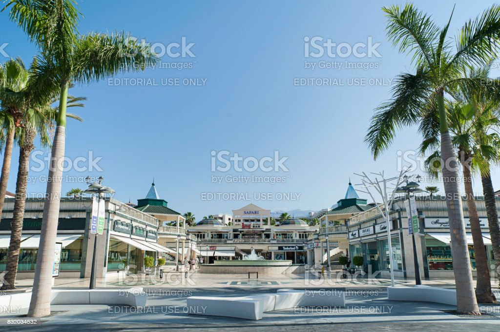 Safari Shopping Center, Las Americas, Arona, Tenerife, Spain stock photo