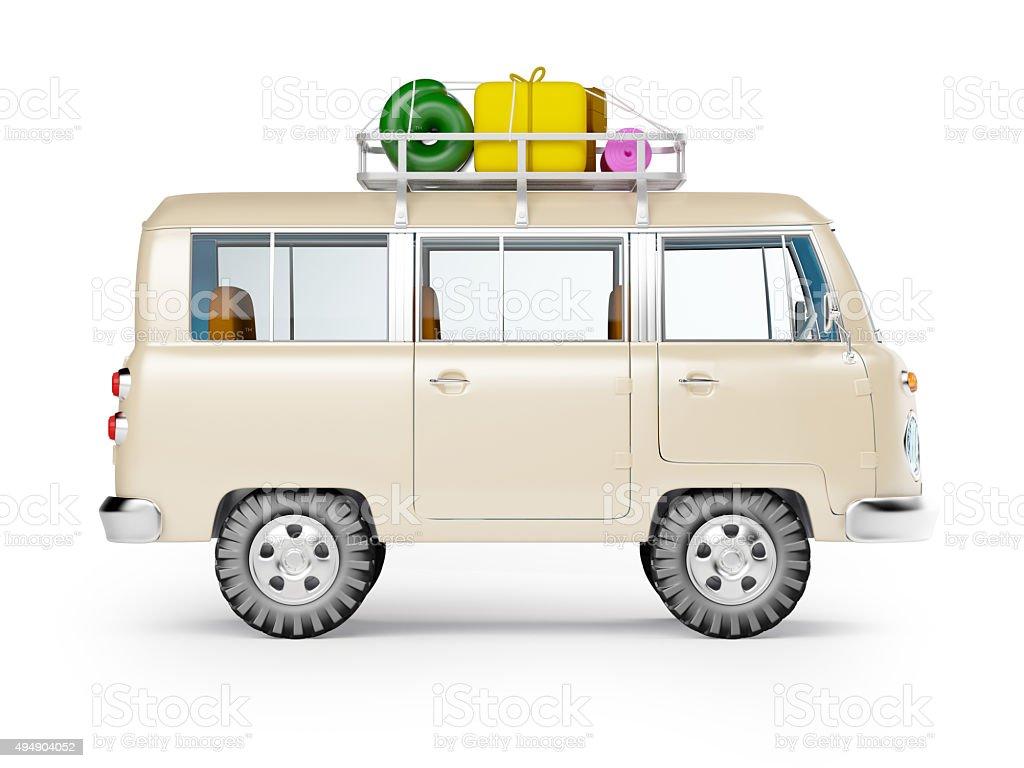 Jeep-safari mit Dachgepäckträger Seite anzeigen – Foto