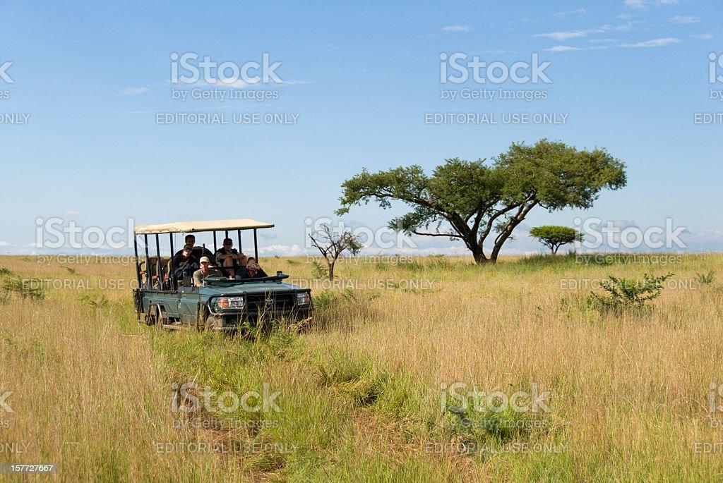 Safari Vehicle at the Savannah stock photo
