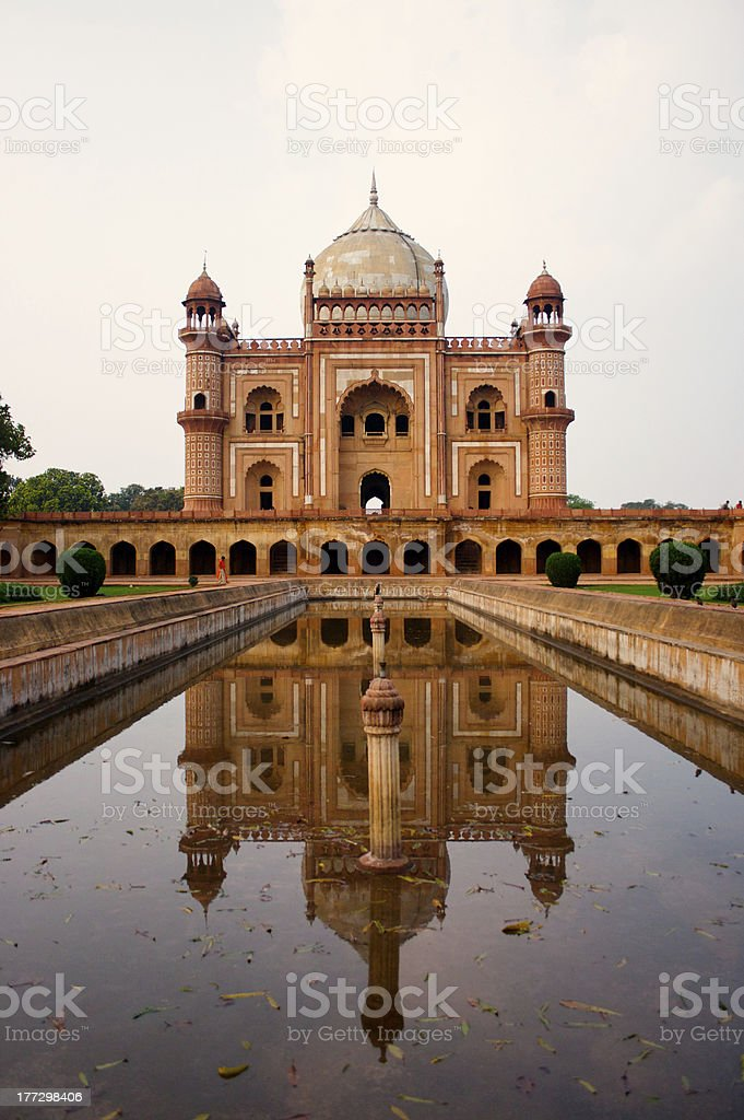 safdurjung tomb reflection in water royalty-free stock photo