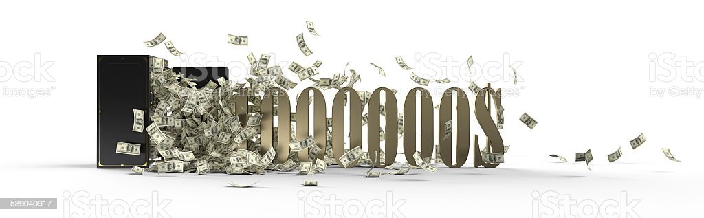 safe and 1000000 dollars stock photo
