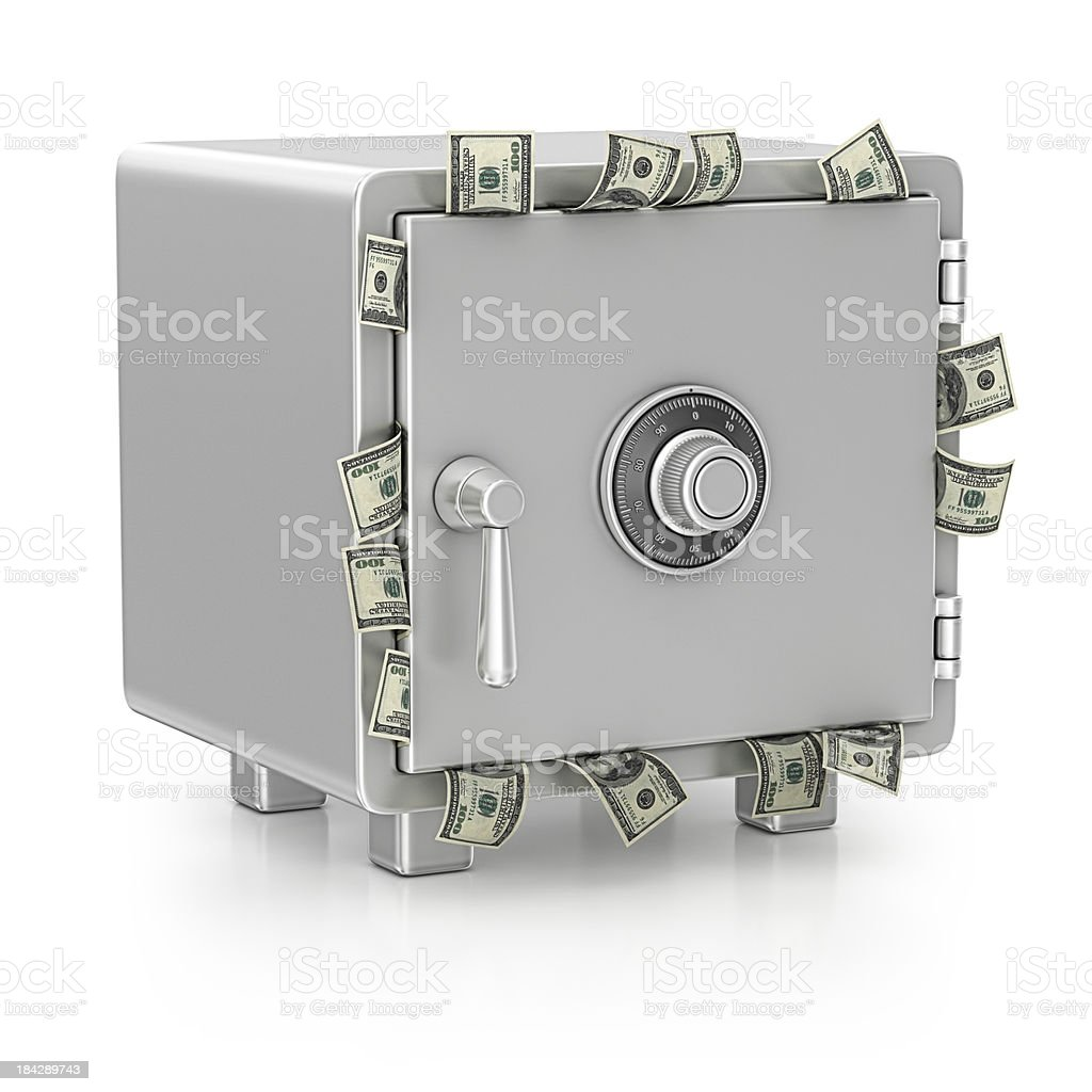 safe and dollars royalty-free stock photo