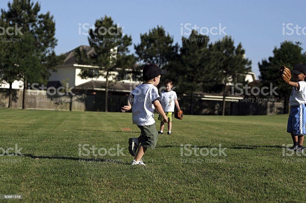 Safe at first! stock photo