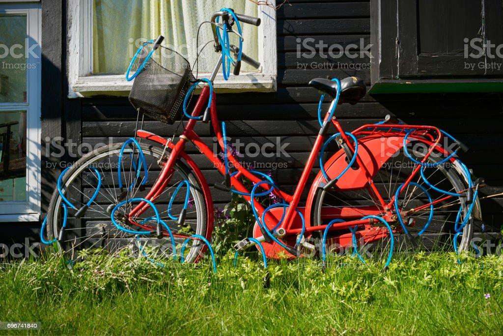 Safe bike stock photo