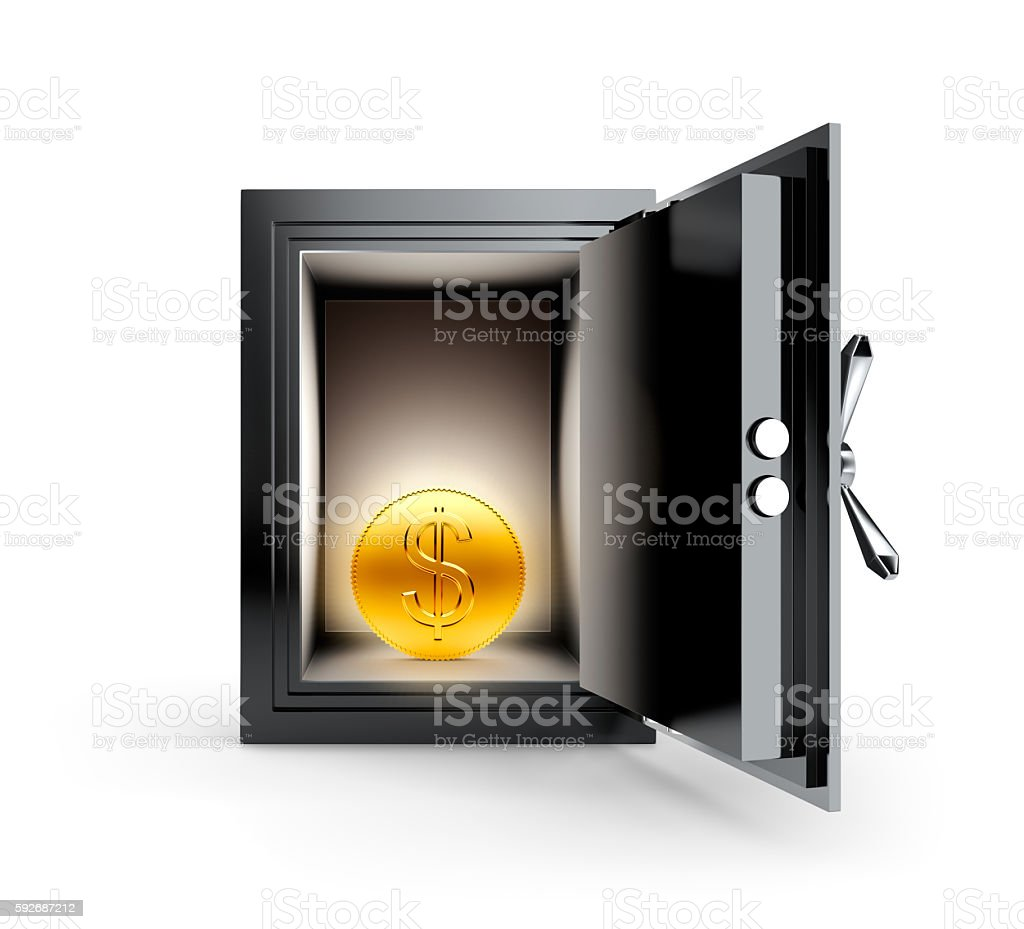 Safe Box stock photo