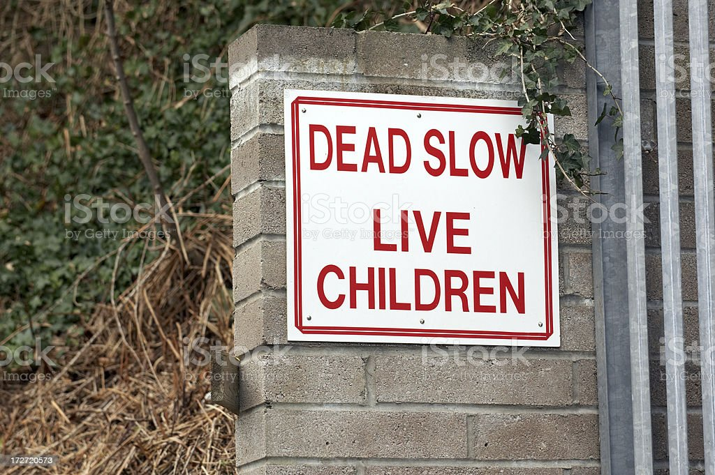 Safe children sign royalty-free stock photo