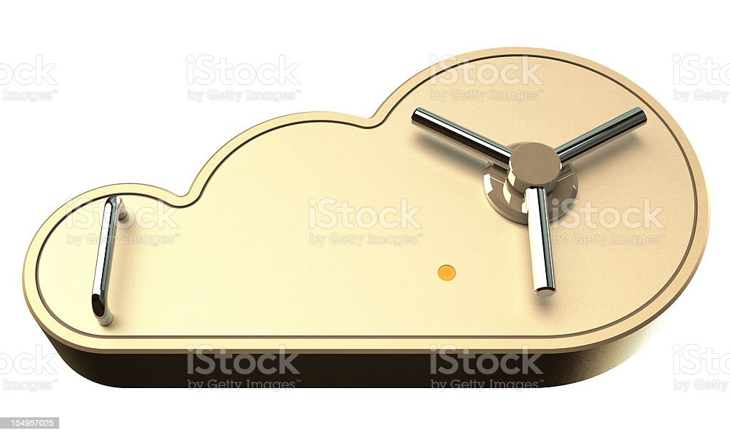 Safe Cloud Computing Concept royalty-free stock photo