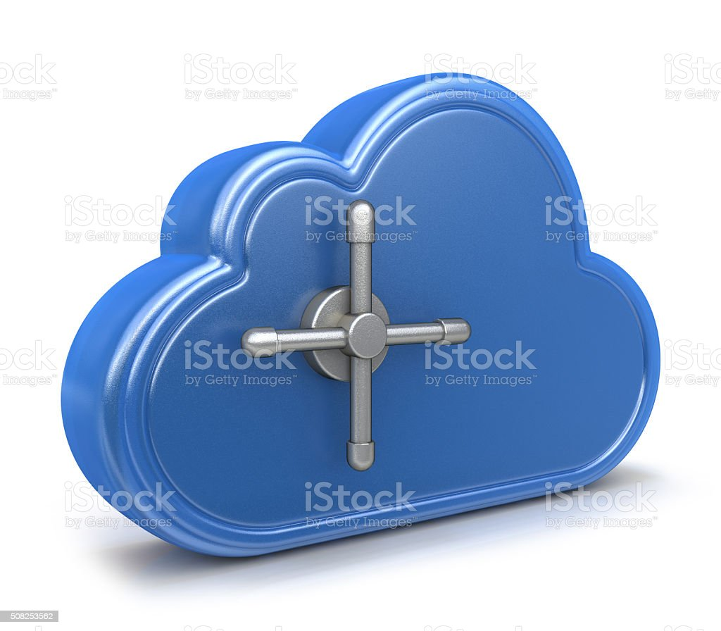 Safe cloud computing concept stock photo