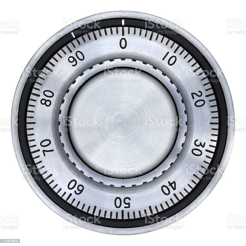Safe Combination Lock Dial royalty-free stock photo