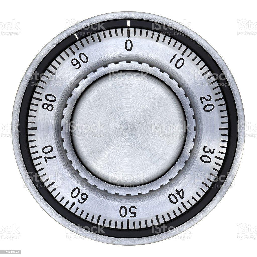 Safe Combination Lock Dial stock photo