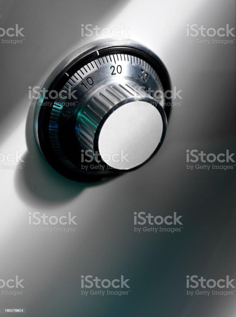 Safe combination lock stock photo
