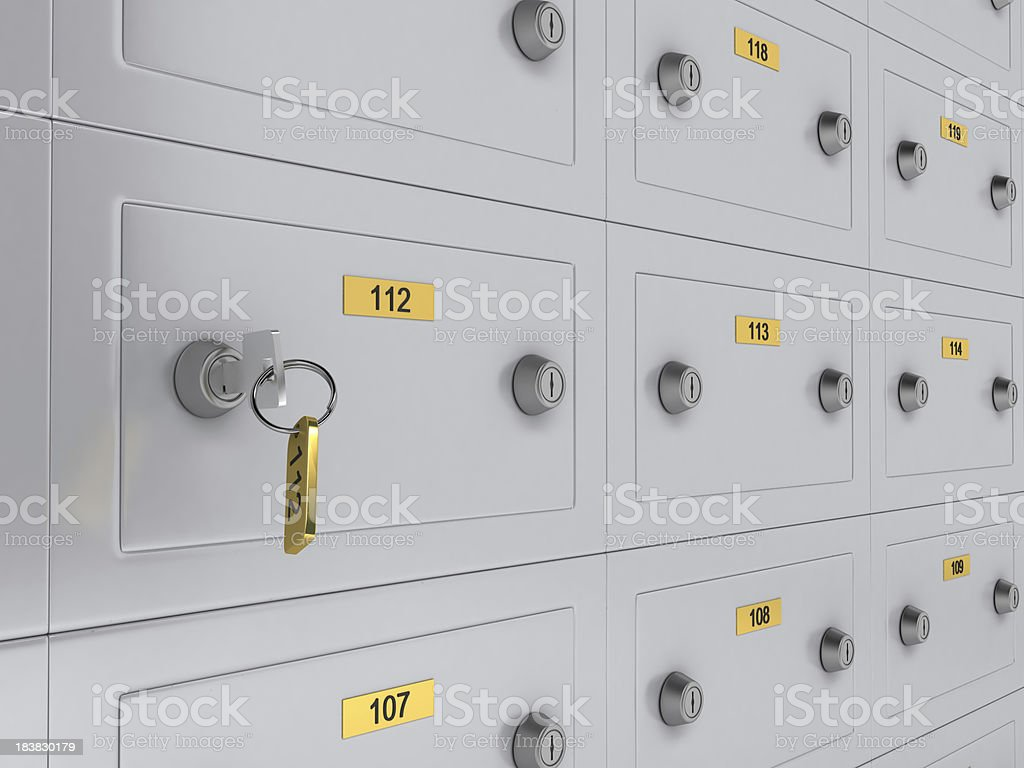 Safe Deposit Boxes stock photo