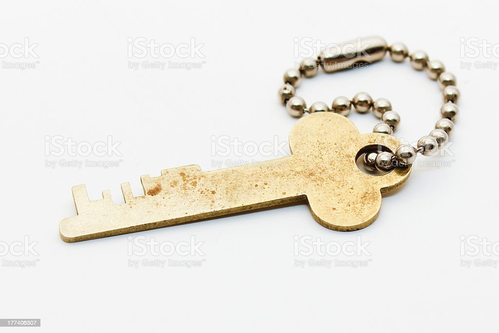 Safe Deposit Key - Royalty-free Bank - Financial Building Stock Photo