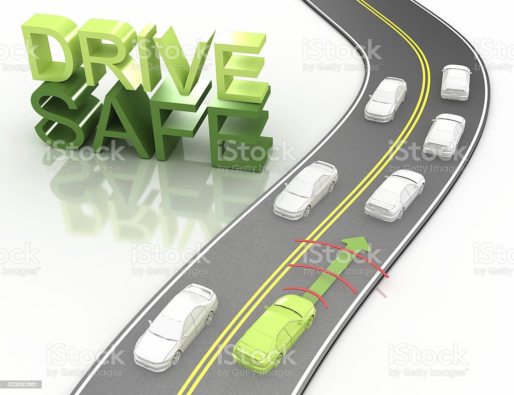Safe Driving Concept stock photo