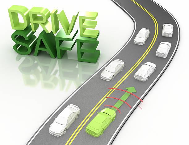 Concetto di guida sicura - foto stock