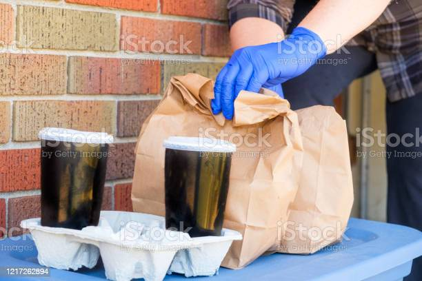 Safe Food Delivery Stock Photo - Download Image Now