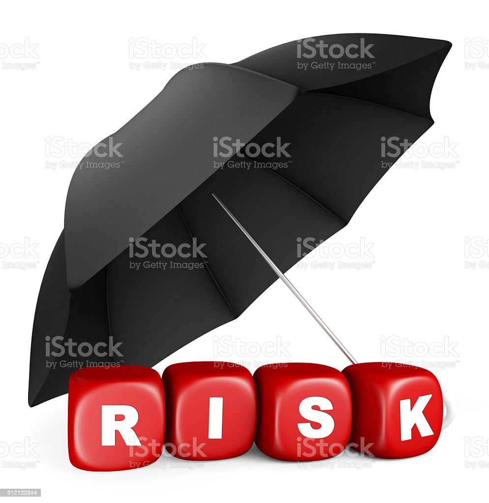 Safe from risk stock photo