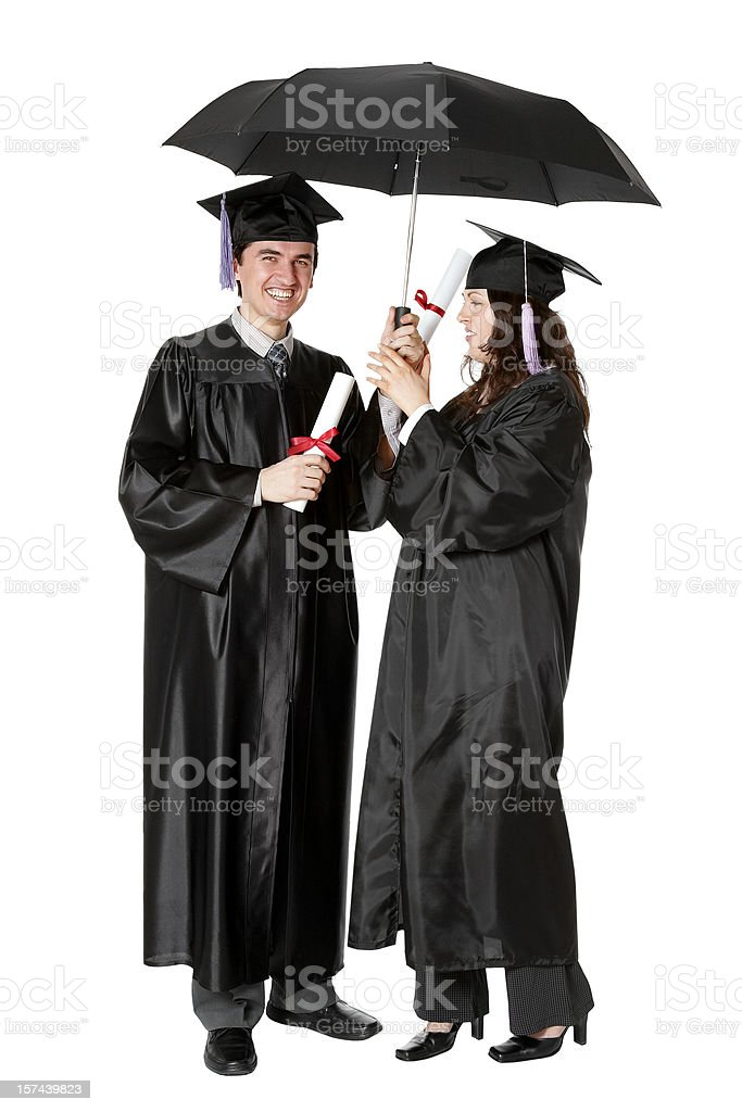 Safe Graduation royalty-free stock photo