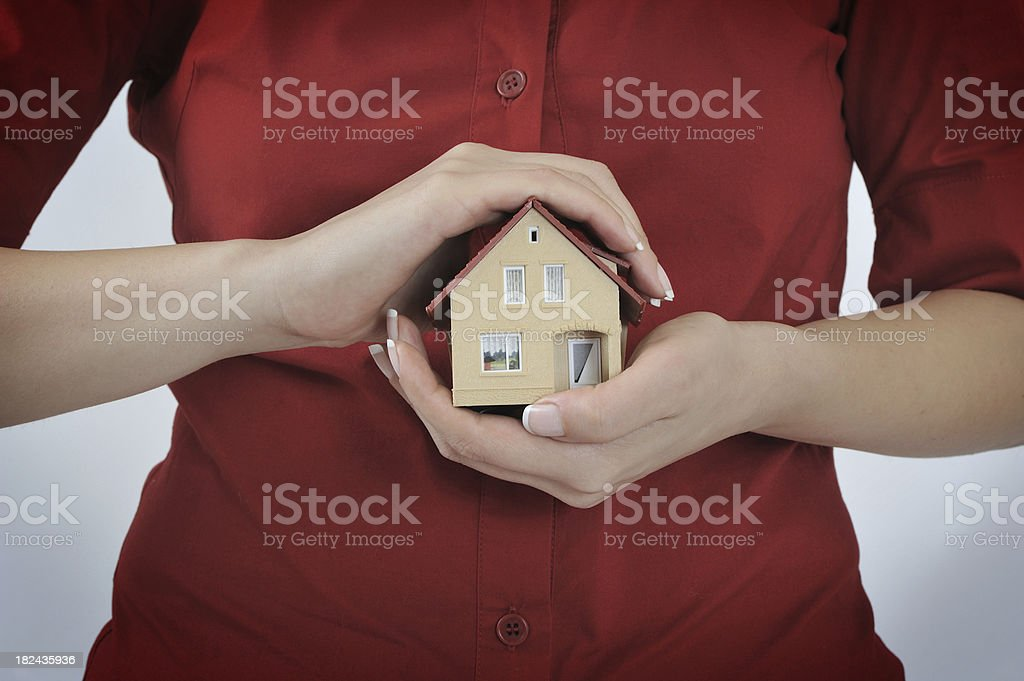 Safe Hands royalty-free stock photo