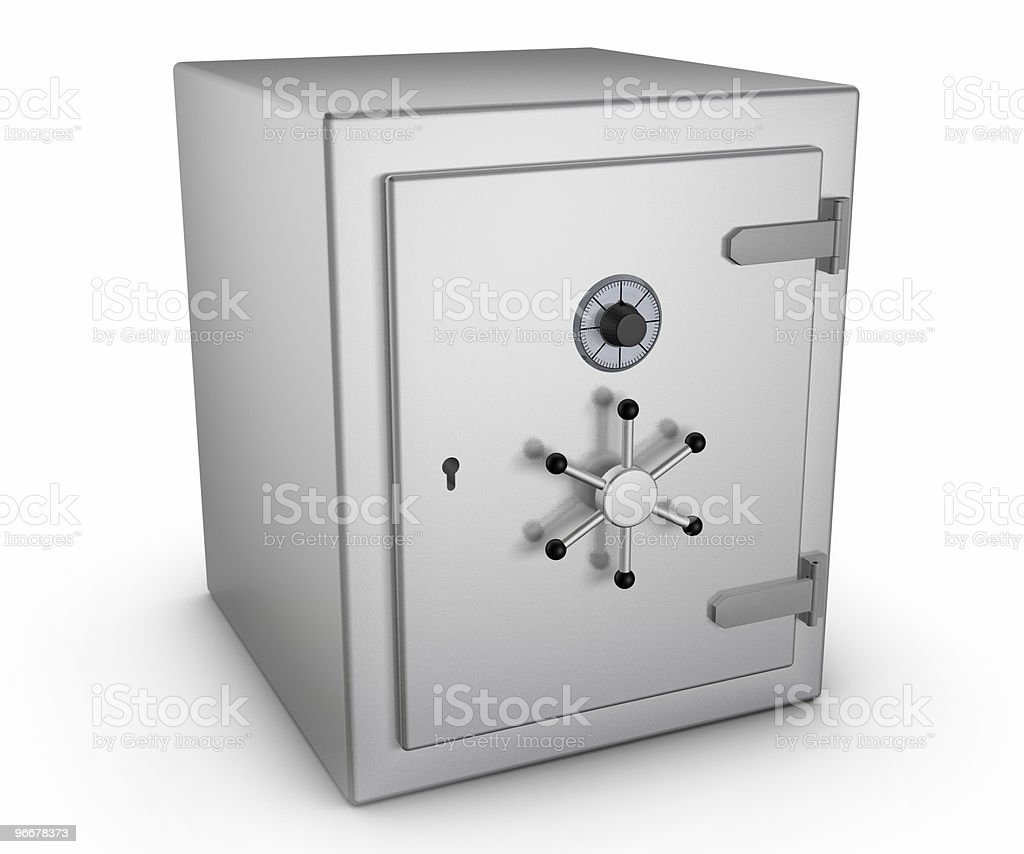 Safe in stainless steel royalty-free stock photo