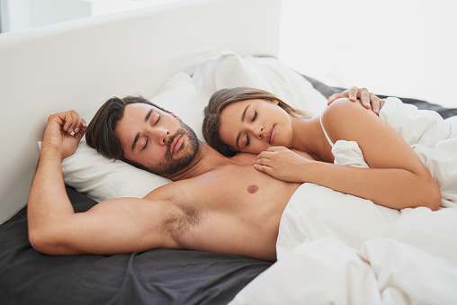 973962076 istock photo Safe inside the marital bed 810704700