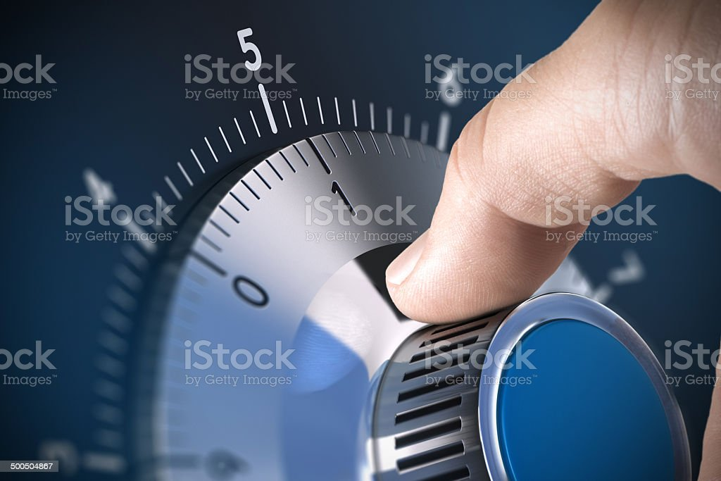 Safe Lock stock photo