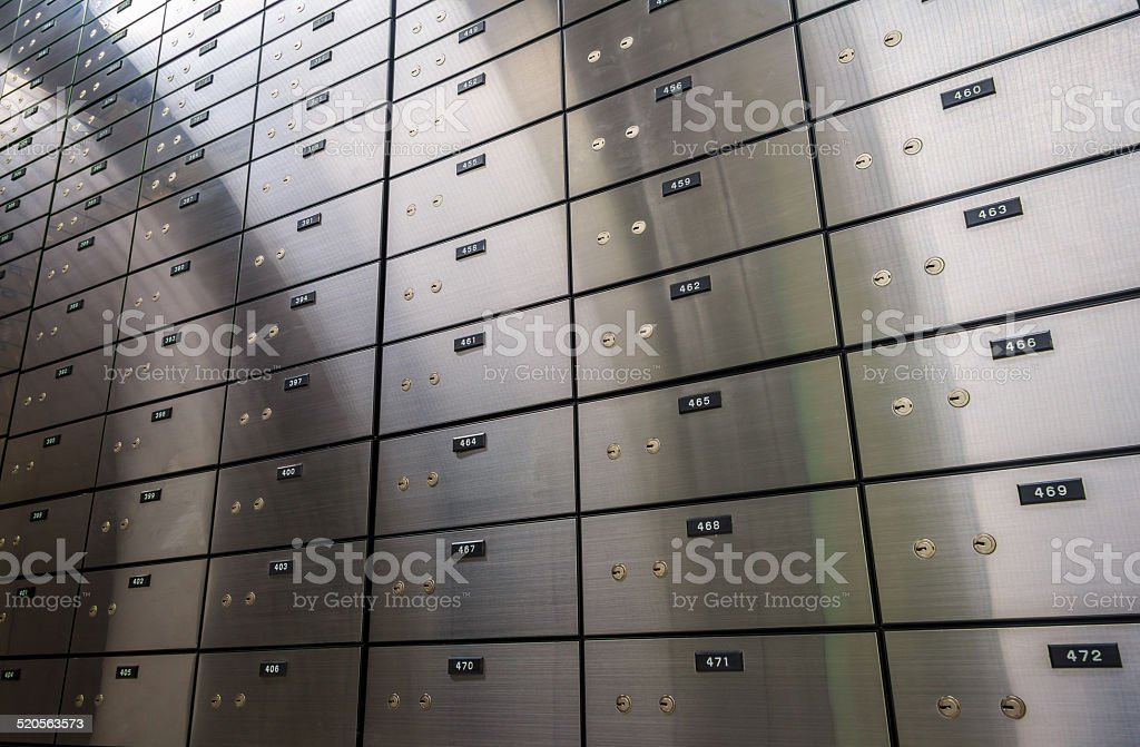 Safe Locker stock photo