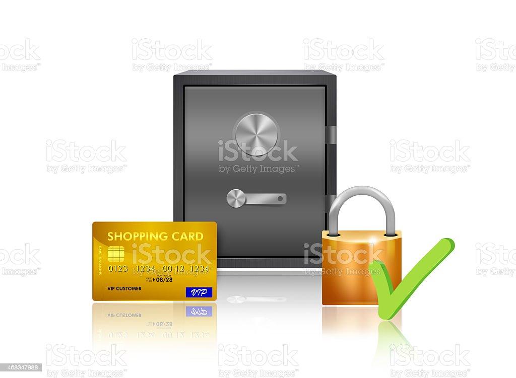 Safe money protection illustration royalty-free stock photo