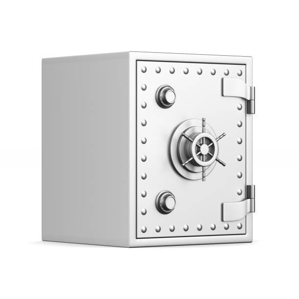 Sicurezza su sfondo bianco. Immagine 3D isolato - foto stock
