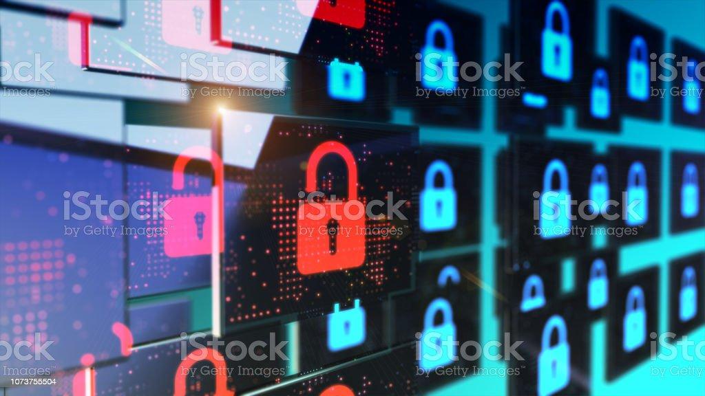 Safe storage of information data stock photo