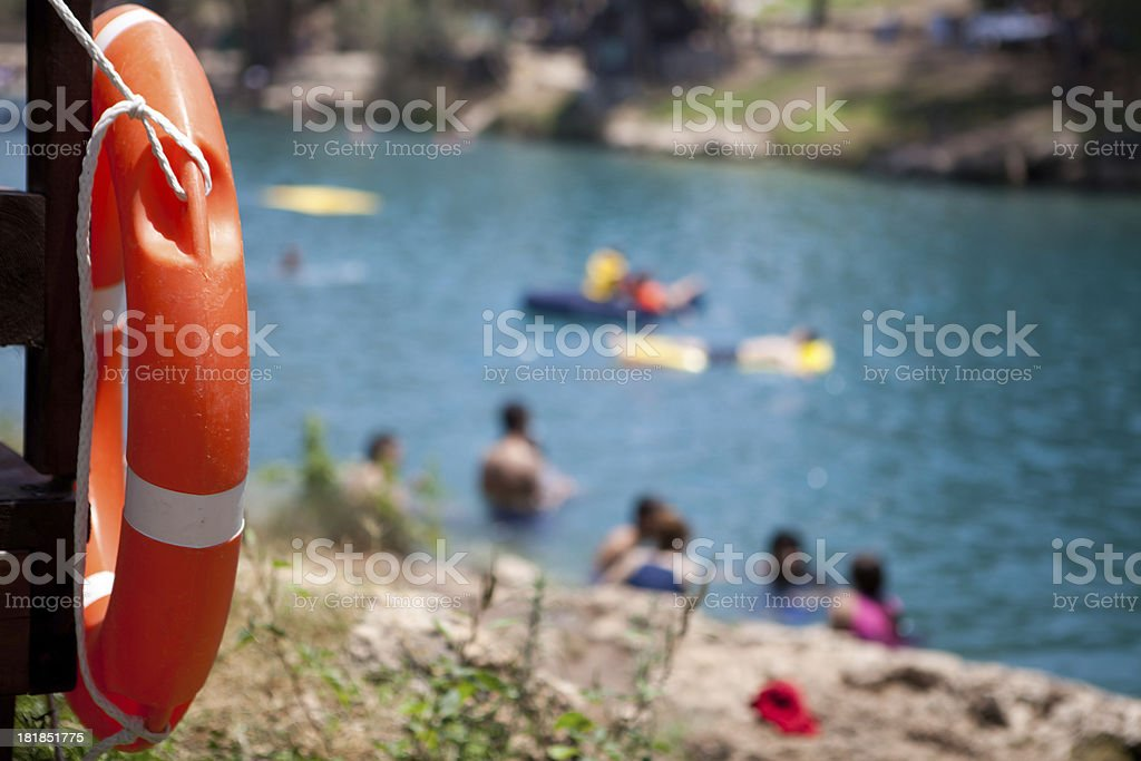Safe Swimming stock photo