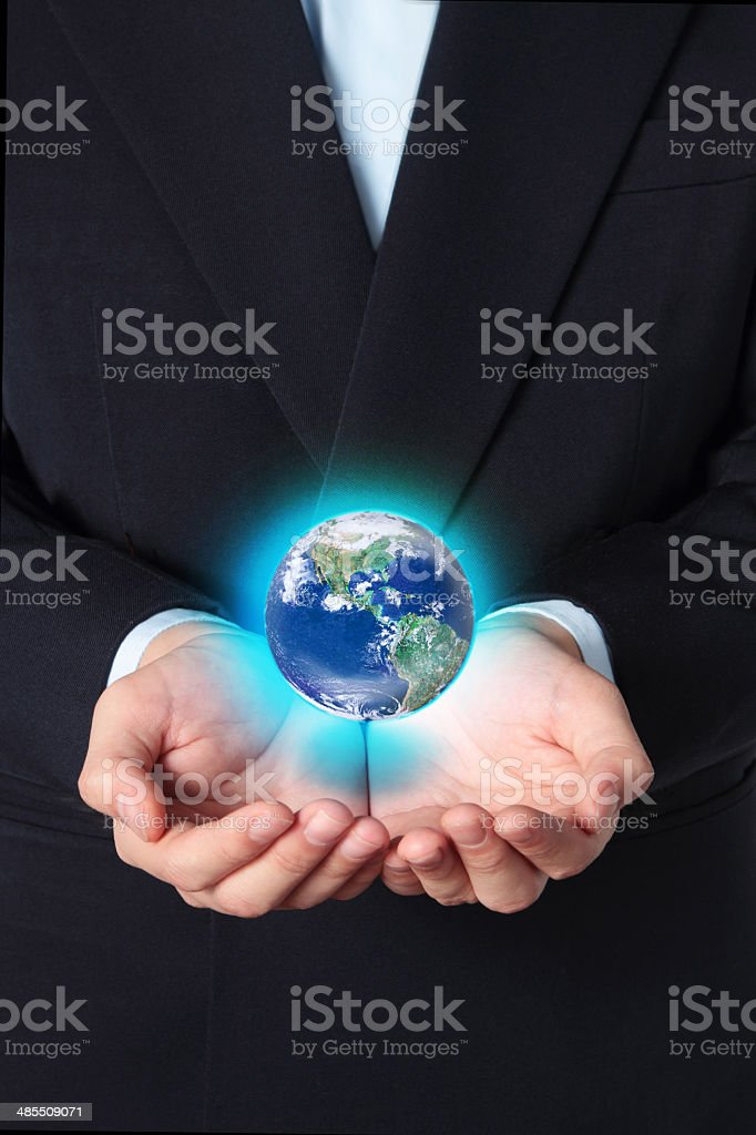Safe the Earth royalty-free stock photo