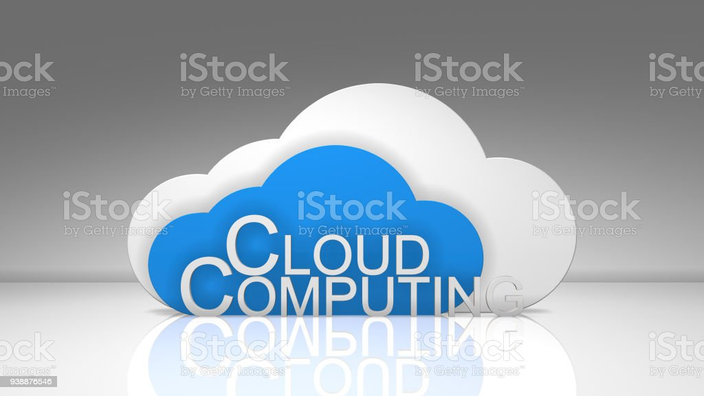 Safe wireless dig data cloud computing network connectivity online storage stock photo